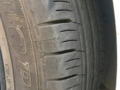 飞度拆车轮毂轮胎打包出售