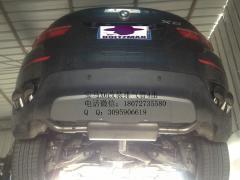 宝马X6改装排气管,杭州机械师排气