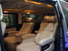 西安改装奔驰v260航空座椅芬朗音响等高级改装