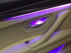 宝马5系氛围灯】多色氛围灯加装 开车变成一种享