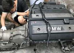 宝马E60M54发动机波箱 气门室盖 高压包发电